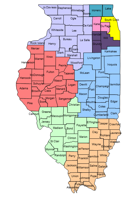 Illinois National Board Regional Map | National Board Resource